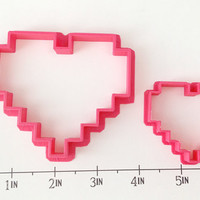 8-Bit Heart Set Cutters