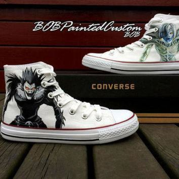 DCKL9 Unisex Converse Anime Sneaker for Sale Hand Painted Custom Made High Top Fashion Sneak
