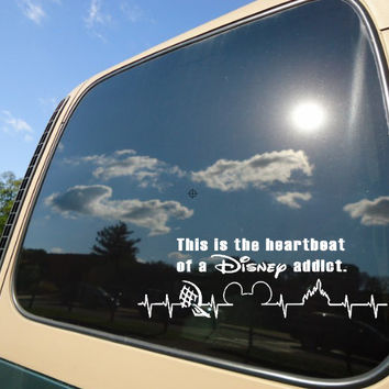 Disney heartbeat car decal