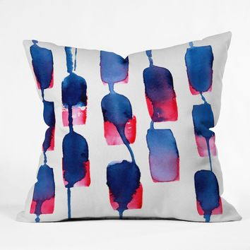 CMYKaren Color Run Throw Pillow | Deny Designs