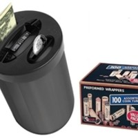 Zillionz Bill & Coin Money Jar with 100ct Preformed Coin Wrapper