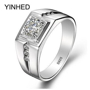 90% Off !! Real 925 Sterling Silver Rings for Man Hot Sale Men Wedding Jewelry Ring 0.75 Carat CZ Diamant Engagement Ring ZR29