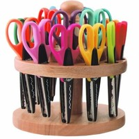 ECR4Kids Kraft Edger Rotating Scissor Rack with 18 Scissors