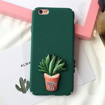 3D Cactus 1 iPhone 6 6s Plus & iPhone 7 7Plus & iPhone se 5s + Gift Box-74