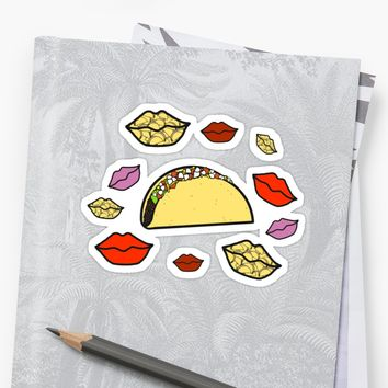 'Taco Flavored Kisses South Park ' Sticker by ShirtsandStuffs