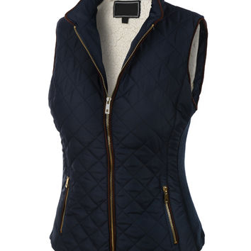 Lightweight Quilted Puffer Jacket Vest with Pockets
