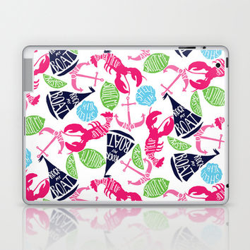 Summer time! (Lilly Pulitzer style) Laptop & iPad Skin by uramarinka