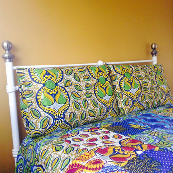 Bespoke African duvet cover. African wax duvet cover, wax print duvet, custom prints, Made to order,  African patchwork