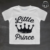 Little Prince (white shirt) - toddler apparel, kids t-shirt, children's, kids swag, fashion, clothing, prince, cute kids shirt, adorable,