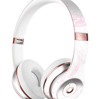 Light Pink Textured Marble Full-Body Skin Kit for the Beats by Dre Solo 3 Wireless Headphones