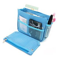 Hot Sale Multifunction Lady Cosmetic Bag Organiser Large Insert Storage Organizer Bag In Bag Travel Clutch Bags