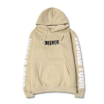 justin bieber Purpose Tour hoodies khaki