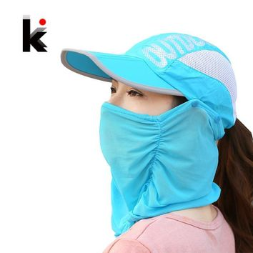 Trendy Winter Jacket Summer Visor Women Hat  Folded Cap Summer Hats For Women With Neck Protection Baseball Cap For Men Snapback Hat AT_92_12