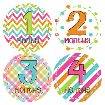 Baby Girl Monthly Baby Stickers Style #279