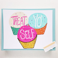 Treat Yo' Self 8x10 Poster Wall Art Prints & Posters Home Decor Wall Art Illustration Home Decor Parks and Rec Poster Dorm Poster