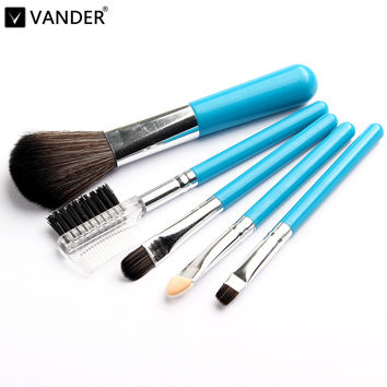 Vander Profissional Mini 5Pcs Makeup Brushes Cosmetics Tools Eyeshadow Eye Face Makeup Brush Gift Set Blush Soft Brushes Kit New