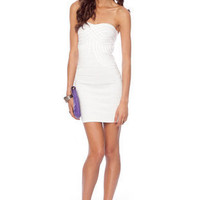 Infinity Bandage Dress in White :: tobi