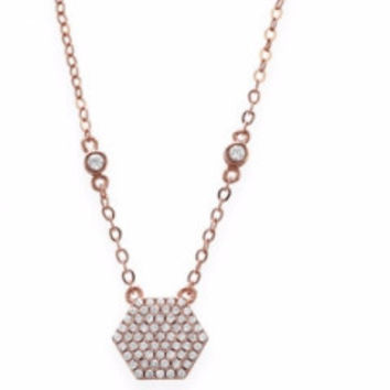 Honeycomb Hexagon Necklace
