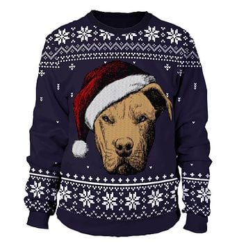 Pitbull Christmas Sweater
