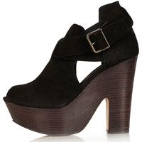 STUNNER Hi Buckle Wedges - Topshop USA