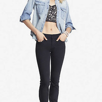 Black Mid Rise Skinny Jean from EXPRESS