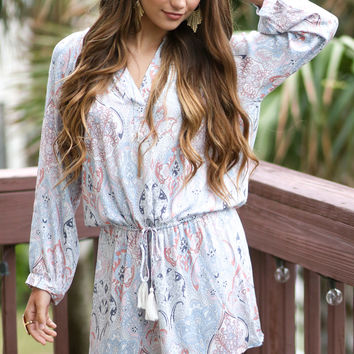 Pretty In Paisley Print Dress
