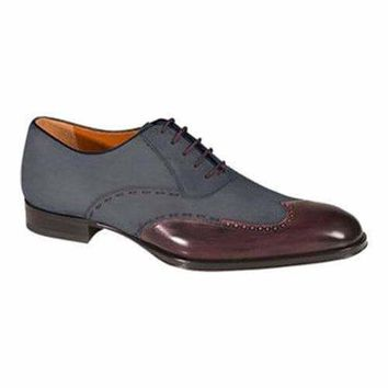 Men's Mezlan Ronda Oxford Burgundy/Grey Calf/Suede