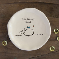 Whale You Are Loved Giving Collection Trinket by Natural Life