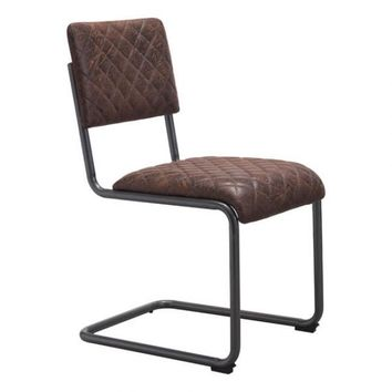 ZUO Modern Father 100402 Dining Chair Vintage Brown