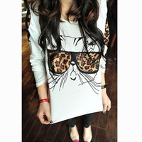 Women Cat Sunglasses Design Long Sleeve T-Shirt a10867