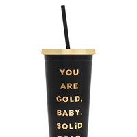 You Are Gold Deluxe Sip Sip Tumbler by Bando - Black & Gold