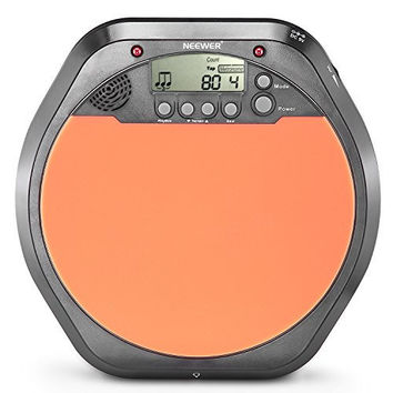 Digital Drum Pad Metronome Drummer Training Practice with Stereo Earphone