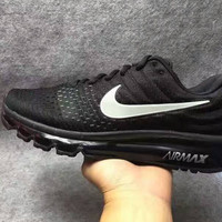 """NIKE"" Trending Fashion Casual Sports Shoes AirMax section Black"