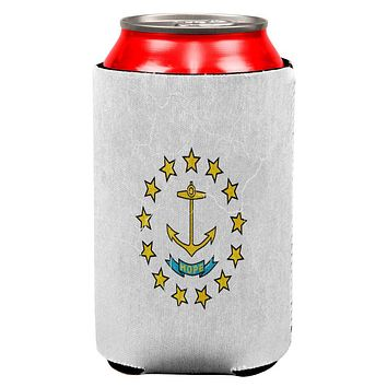 Rhode Island Vintage Distressed State Flag All Over Can Cooler
