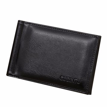 Business Men Wallets Leather Card Cash Receipt Holder Organizer Bifold Coin Purse Clutch Wallet carteras mujer