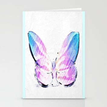 Butterflies Stationery Cards by Jessica Ivy