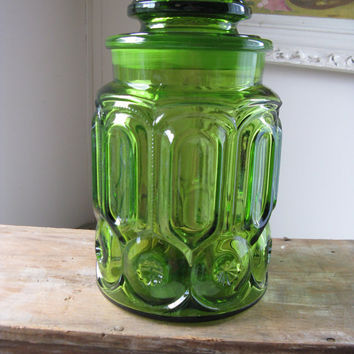 le smith moon and stars green glass sugar by rivertownvintage