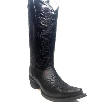 Corral Women's Black Cross Cowboy Boot
