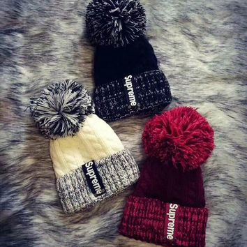 Supreme Knit And Pom Hat Cap