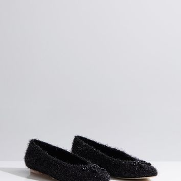 Beaded Bow Tinsel Flats by Simone Rocha- La Garçonne