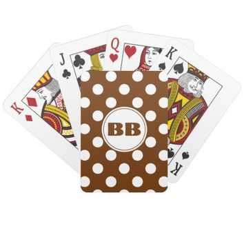 Coffee Brown Customizable Deck of Cards