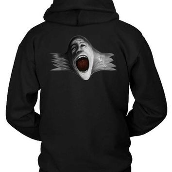 Pink Floyd Scream Face Blow Up Hoodie Two Sided