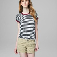 Prince & Fox Striped Ringer Tee - Aeropostale