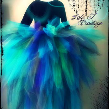 Adult Peacock Bustle FULL Tutu Teen  ALL SIZES by LolaJBoutique