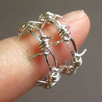 It's The Quiet Ones You Need To Watch--Small Barbed Wire Earrings