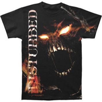 Disturbed Men's  Outrage T-shirt Black Rockabilia