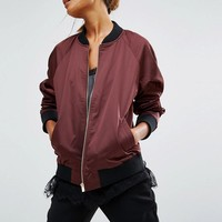 First & I | First & I Satin Bomber Jacket at ASOS