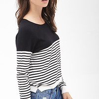 FOREVER 21 Striped Knit Sweater