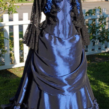 Victorian Mina Bustle Skirt with Bodice Gothic by RomanticThreads