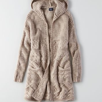 AEO OVERSIZED HOODED CARDIGAN from American Eagle Outfitters
